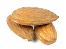 Composition from almond nuts  on white background Stock Images