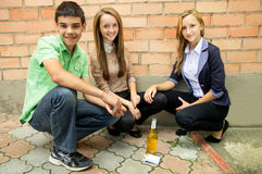The composition of anti-smoking Royalty Free Stock Photos