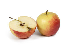 Composition of apples. A white background Stock Photo