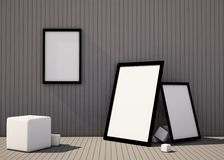 Composition of art and shape geometry Exhibition room Stock Image