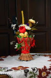 Composition of artificial flowers Stock Photo