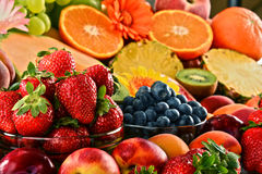 Composition with assorted fruits Stock Photography