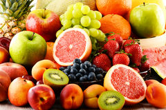 Composition with assorted fruits Stock Image