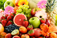 Composition with assorted fruits Royalty Free Stock Photo