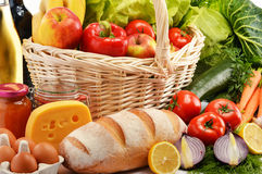 Composition with assorted grocery products Royalty Free Stock Photos