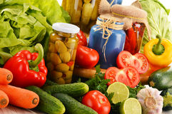 Composition with assorted organic vegetables Stock Photography