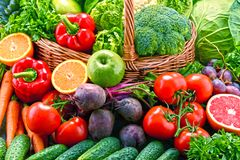Assorted raw organic vegetables Royalty Free Stock Photography