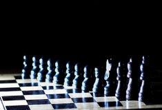 Composition avec des chessmen photographie stock