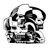 Composition avec des crânes illustration de vecteur