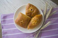 Composition avec des petits pains photographie stock libre de droits
