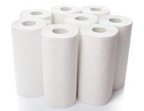 Composition avec des petits pains de serviette de papier image stock