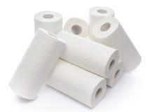 Composition avec des petits pains de serviette de papier photo stock
