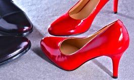 Composition avec deux paires de chaussures photos libres de droits