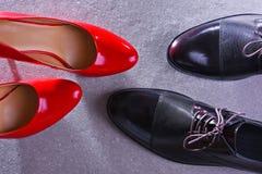 Composition avec deux paires de chaussures image libre de droits
