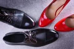 Composition avec deux paires de chaussures photo libre de droits