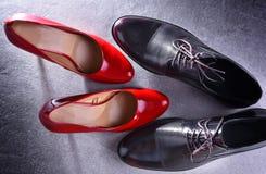 Composition avec deux paires de chaussures photos stock