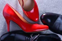 Composition avec deux paires de chaussures images libres de droits