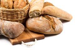 Composition avec du pain images stock