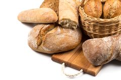 Composition avec du pain images libres de droits
