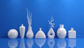 Composition avec la poterie décorative Images stock