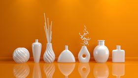Composition avec la poterie décorative Image stock