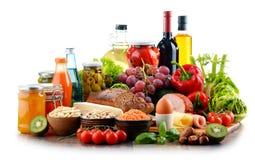 Composition avec la variété de produits alimentaires d'aliment biologique image libre de droits