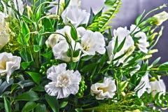 Composition avec le bouquet fraîchement des fleurs coupées Images stock