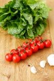Composition avec les légumes crus Image stock