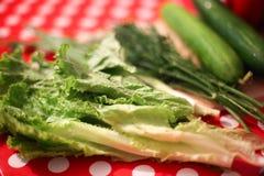 Composition avec les légumes organiques crus assortis image libre de droits