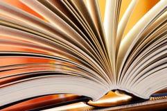 Composition avec livres reliés dans la bibliothèque Image libre de droits