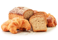Composition with baking products on white Stock Images