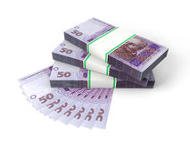 Composition with banknotes of ukrainian money Royalty Free Stock Photography