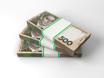 Composition with banknotes of ukrainian money Stock Photography