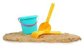 Composition with beach objects. On white background stock images