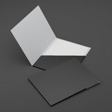 Composition of blank black folders. Composition of open and closed folders  on black. 3d render Royalty Free Stock Photography