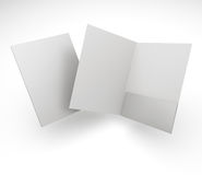 Composition of blank folders Stock Photos