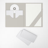 Composition of blank folders. welcomepack Stock Images