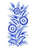 Composition bleue en fleur illustration stock