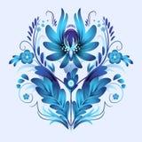 Composition with blue flowers. Ukrainian ornament Stock Photo
