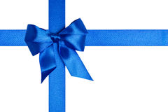 Composition with blue ribbons and a bow Stock Photography