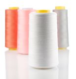 Composition of bobbins with stings Stock Images