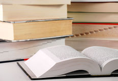 Composition with books. On table Royalty Free Stock Photography
