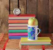 Composition with books. Back to school. Royalty Free Stock Photo