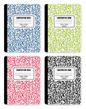 Composition Books. Detailed  illustration of pencils on top of Composition Books Royalty Free Stock Photo