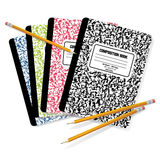 Composition Books & Pencils Stock Photos