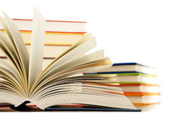 Composition with books on white Royalty Free Stock Photo