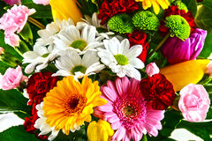 Composition with bouquet of flowers Royalty Free Stock Image