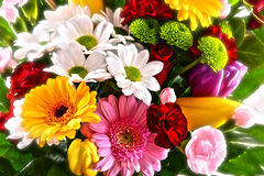Composition with bouquet of flowers Royalty Free Stock Images