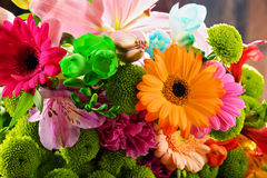 Composition with bouquet of flowers Stock Photo