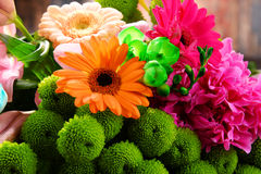 Composition with bouquet of flowers Royalty Free Stock Photo
